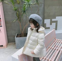 Vendas por atacado 2018 novas garotas jaqueta com capuz confortável branco quente para baixo Casaco venda por atacado