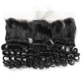 Discount virgin hair free part lace closure - Fashion Loose Wave 13*4 Swiss Lace Frontal Closure Unprocessed Peruvian Malaysian Virgin Hair Brazilian Virgin Hair Stra