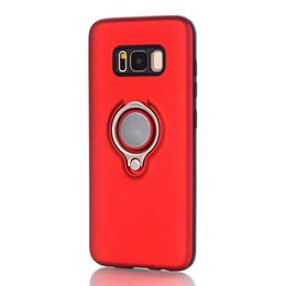$enCountryForm.capitalKeyWord NZ - Shockproof Case For Samsung Galaxy S8 Plus Case Luxury Metal Finger Ring Car Holder Stand Armor Case For Samsung Galaxy S8 Cases