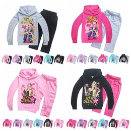 Branded Baby Kids Clothes Australia - JoJo siwa Tracksuit Autumn Baby Clothing Sets Children Boys Girls Fashion Brand Clothes Kids Hooded T-shirt And Pants 2 Pcs MMA908