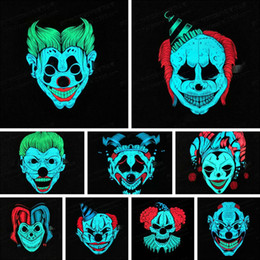 $enCountryForm.capitalKeyWord Australia - LED Control Glowing Flash Cosplay Masks Party Supplies Halloween LED Light Airsoft Full-face Mask Voice Disfraces Carnaval