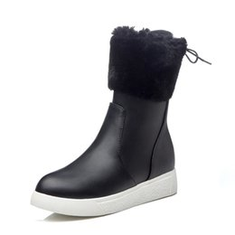 Warm suede boots for Women online shopping - snow boots women winter boots made of faux suede with snow shoes warm ankle boots on the platform for girls XDX