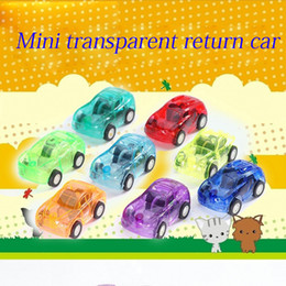 New Child Kids Plastic Toy Transparent Mini Pull Back Model Car Toys Return Educational Nice Birthday Gift