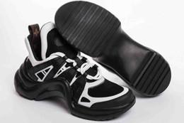 Neueste dreifach S Luxusmarke Frauen Leder Stoff Archlight Sneaker Designer Gummi Outsole Männer Trainer Läufer Schuhe