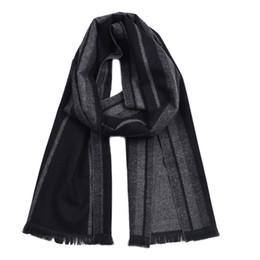 Cotton Scarves Chevron Australia - Guttavalli Fashion Men British StyleDouble Sides Woven Long Warm Shawl Winter Geometric Cotton Scarves Male Chevron Stripe Scarf