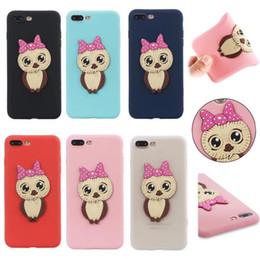 $enCountryForm.capitalKeyWord NZ - 3D Soft Cute OWL Lovely Cartoon Silicone solf TPU Cover case for iphone X 7G 8G 6S S9 PLUS S8 PLUS S7 EDGE