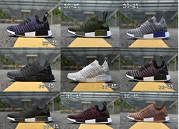 Discount army duck fabric 2018 NMD R1 STLT Primeknit Porter Duck Camo Army Zebra Triple Black Mens Women Running Shoes Sport Nmds Runner Primeknit