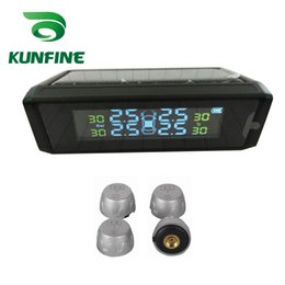 Digital Security Systems NZ - Smart Car TPMS Solar Energy Tire Pressure Monitoring System with External Sensor Digital LCD Display Auto Security Alarm Systems