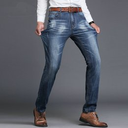 ad0e66c47a Jeans vaqueros casual hombre online shopping - New Brand Men Designer  Stretch Casual Straight Leg Denim