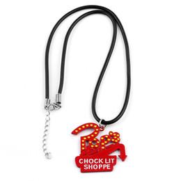 Enamel Chain Wholesale NZ - Riverdale TV Series Pop's Chock'lit Shoppe Logo Necklace Red Enamel Metal Charm Pendant With Rope Chain For Men Women Jewelry