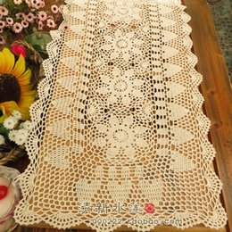 Crochet Home Australia - 2016 new arrival zakka fashion colorful 100% cotton crochet lace table runner for home decoration with sunflower for sale