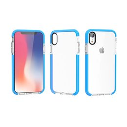Wholesale Clear Color Case UK - Factory Price Transparent Clear Case for iPhone XR XS Max 6.1 6.5Inch TPE Color Bumper TPU Crystal Plate Back Cover
