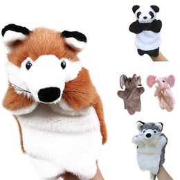 cute puppets Australia - Cute Animal Hand Puppet Performance Show Sleep Story Soft Plush Elephant Panda Fox Parent-Kids Interaction Hand Puppet Game Toy