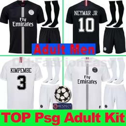 maillots AJ PSG soccer jersey men uniform kit 2019 Paris MBAPPE saint  germain cavani jersey 18 19 Survetement football kit shirt men adult 2d5638a9d