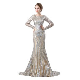 $enCountryForm.capitalKeyWord UK - Sexy Long Sleeve Mermaid Prom Dresses 2018 New Illusion Scoop Neck Long Floor Length Formal Evening Gowns Party Dress 17-6659
