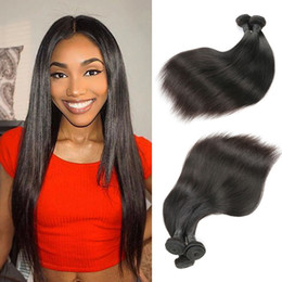 "$enCountryForm.capitalKeyWord Australia - Brazilian Virgin Human Hair Weave Bundles Unprocessed Brazillian Peruvian Indian Malaysian Straight Remy Hair Extensions 10""-26"""