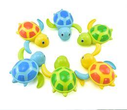 Discount swimming toy turtles - Bath Toys Cartoon Animal Tortoise Baby Bath Toy Infant Swim Turtle Chain Clockwork Classic Toys Kid Educational Toys