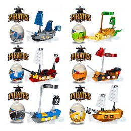 Discount kids pirate ships toys - Building blocks Kids Surprise Twist Eggs Toys Boys Pirates Ships Educational Bricks Toys for Boys Christmas party Gifts