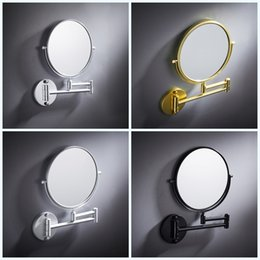 Framed shower online shopping - Shower Room Cosmetic Mirror Wall Hanging Telescopic Enlarge Two Sided Sturdy Mirrors Hardware Make Up Bath Accessory af jj