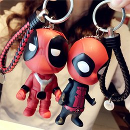 deadpool costume black UK - Deadpool gift cosplay accessories keychain anime cartoon hot selling unisex personality creative key chain free shipping