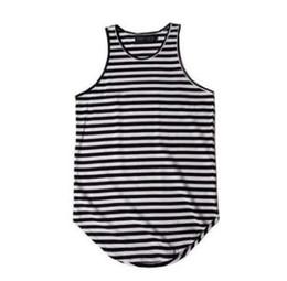 $enCountryForm.capitalKeyWord UK - New arrivals men striped tank top camiseta tirantes hombre mens hip hop oversized tank tops justin bieber singlet swag clothes