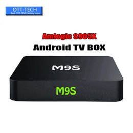 Wholesale Best Hot M9S X1 K Amlogic S905X Rockchip RK3229 Quad Core Android TV Box Media Player Support WiFi D Free Movies BETTER H96 MINI X96