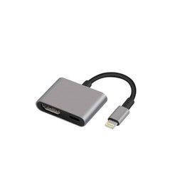 iPhone iPad к переходнике HDMI, молнии 8-pin к переходнике AV HDMI женскому видео-цифровому с зарядным портом молнии для Репроектора монитора TV HD