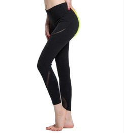 Sex Yoga Pants UK - Women Yoga Sport Pants Mesh Black Gym Fitness Leggings Sex High Waist Stretched Running Clothes For Ladies New Arrival Hot sale