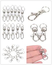 $enCountryForm.capitalKeyWord Australia - 10pcs lot Silver Metal Classic Key Chain DIY Bag Jewelry Ring Swivel Lobster Clasp Clips Key Hooks Keychain Split Ring Wholeales