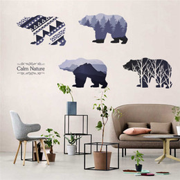 wallpapers trees 2019 - nature tree mountain bear 3D Sticker Window Beautiful Film wall Decal Wallpaper View Wall Stickers living room office de