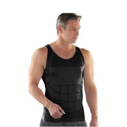 cf36b2d25b691 Men Corset Body Slimming Tummy Shaper Running Vest Belly Waist Girdle Shirt  Black Shapewear Underwear Waist Shirts DropShipping