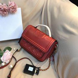 Women Wallet red genuine leather online shopping - fashion brand handbag designer handbags Europe and America Ladies luxury handbags Fashion wallet Outdoor bags