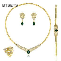 $enCountryForm.capitalKeyWord NZ - BTSETS Cheap Fashion Jewelry Sets For Women Bridesmaid African Beads Jewelry Set Wedding Rhinestone Statement Necklace Set