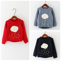 $enCountryForm.capitalKeyWord NZ - Autumn Winter Fashion kid's jumper clothing cloud flower raindrops Patterns Sweater Baby Girl Long Sleeve knitting sweaters 3 color in 2018