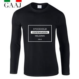 $enCountryForm.capitalKeyWord NZ - stockholm copenhagen Helsinki Oslo Couple T Shirt Women O Neck Clothes Ladies Long Sleeve Plus Size Tshirt Loose Rock T-shirt Hi