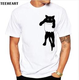 9f67ffb71 Graphic t shirt desiGns online shopping - Summer Funny Cat in Pocket Design T  Shirt Mens