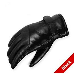 Men Gloves Leather Sheepskin Australia - Hot Sale Men sheepskin gloves genuine leather glove for men winter Outdoor warm fur thickening thermal patchwork gloves