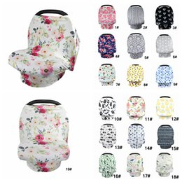 Chinese  Baby Floral Feeding Nursing Cover Newborn Toddler Breastfeeding Privacy Scarf Shawl Baby Car Seat Stroller Canopy Bedsprea 30pcs AAA848 manufacturers