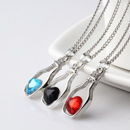 Drifting Bottle Pendant Australia - New arrival Crystal Wishing Drifting Bottle Pendant Necklace Heart-shaped clavicle chain Fashion jewelry for women free shipping