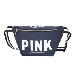 Discount pink tool bags - 2018 famous brand hot sale Waist Bag Fanny Pack Pink Letter canvas Beach Bags Handbags Purses Outdoor Cosmetic Bag 10 co