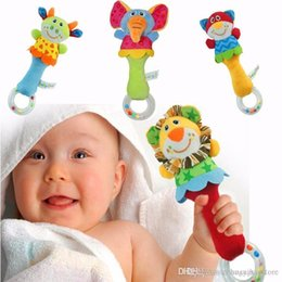 Wholesale Baby Rattle Toys Animal Hand Bells Plush Baby Toy High Quality Newbron Gift Christmas Animal Style
