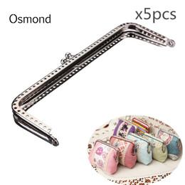 $enCountryForm.capitalKeyWord Canada - Osmond 5pcs 15cm Sewing Purse Metal Frame Kiss Clasp Closure Lock DIY Handbag Handle Silver Coins Bags Metal Kiss Clasp Frame