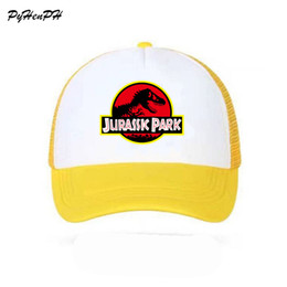 c3a75e6d9d9 Jurassic Park Dinosaur Baseball Cap Trucker Caps Adjustable Women Mewn Cool  Summer Cool Mesh Baseball Caps Hats