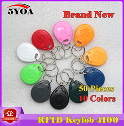 $enCountryForm.capitalKeyWord Australia - 50Pcs RFID Tag Key Fob Keyfobs Keychain Ring Token 125Khz Proximity ID Card Chip EM 4100 4102 for Access Control Attendance