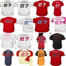d1bace965 ... jersey mlb holo 5 27 92707 8ea11; sweden 27 mike trout 2018 los angeles  fashion stripes all stars mother father memorial day training
