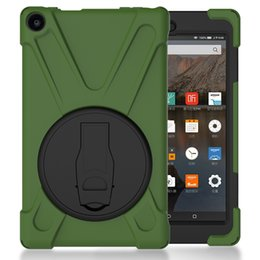 $enCountryForm.capitalKeyWord UK - Holder Case for Kindle Fire HD 8 2017 Kids Shockproof Silicone Hard Back Cover for Kindle Fire Tablet+Pen