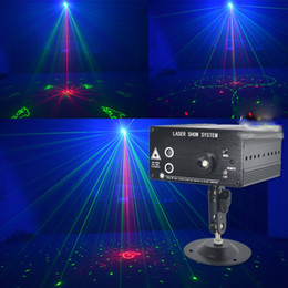Small Portable 3 Hole 48 Pattern RGB Laser Projector Lighting DJ Family Christmas Party Holiday Stage Light