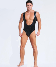 $enCountryForm.capitalKeyWord Canada - hot sale man lingerie sex Teddies & Bodysuits latex body stocking gay mens jumpsuits sexy plus size nightclub bar stage uniforms