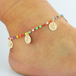 summer flower bracelet Canada - Charm Anklets Summer Beach Jewelry Colorful Rhinestone Beaded Flower Leaf Butterfly Infinity Styles Ankle Foot Anklets for Womens GIFT
