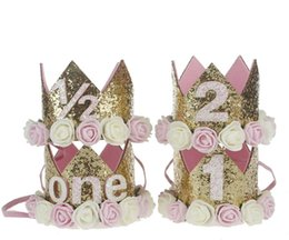 China Infant Baby Girls Boys 1st 2nd 3rd Birthday Party Crown Hat Cake Smash Tiara Accessories suppliers